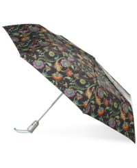 Totes Signature Auto Open Close Large Umbrella Cultural Floral