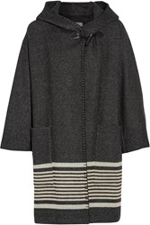 Mih Jeans Bay Wool Blend Hooded Coat Gray