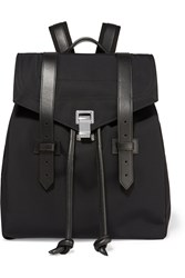 Proenza Schouler The Ps1 Leather Trimmed Canvas Backpack Black