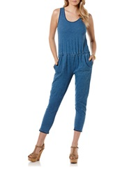 Candc California Chambray Jumpsuit Indigo