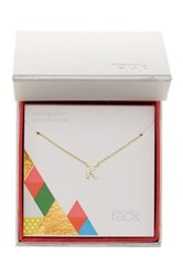Nordstrom Rack Gold Plated Sterling Silver Pave Cz 'K' Initial Pendant Necklace Metallic
