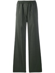 Acne Studios Easy Fit Straight Trousers Green