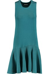 Issa Viola Fluted Stretch Jersey Dress Blue
