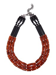 Marella Ecru Tortoise Shell Necklace Brown