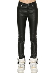 Maison Martin Margiela Skinny Stretch Nappa Leather Pants Black