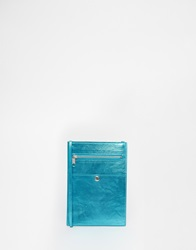 Monki Metallic Cross Body Bag Blue