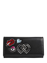 Dsquared Leather Clutch W Appliques