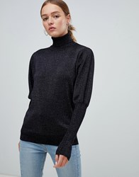 Minimum Moves By Leg Of Mutton Sleeve Jumper Black