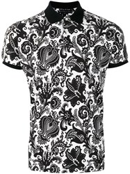 Etro Paisley Print Polo Shirt Men Cotton Xl Black