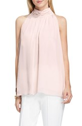 Vince Camuto Women's Shirred Neck Halter Blouse Hush Pink