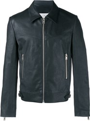Maison Martin Margiela Washed Leather Jacket Black Platinum