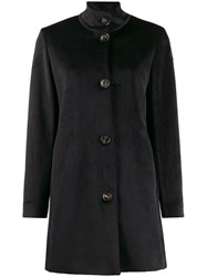Rrd Textured High Neck Coat Black