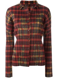 Issey Miyake Vintage Checked Pleated Shirt