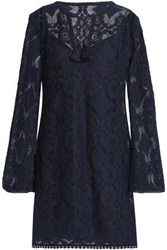 Bailey 44 Spa Day Cotton Blend Lace Mini Dress Midnight Blue