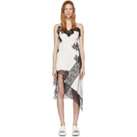 Marques Almeida White And Black Lace Slip Dress