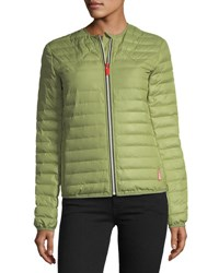 Hunter Quilted Puffer Zip Front Thermolite Jacket Pale Green