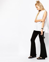 Monki Jersey Flare Trouser Black