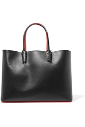 Christian Louboutin Cabata Studded Textured Leather Tote Black