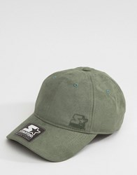 Starter Baseball Cap Pitcher Black Label In Suede Green