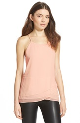 Sam Edelman 'Stella' Three Layer Tank Pink