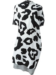 Junya Watanabe Comme Des Gara Ons Leopard Print Dress Black