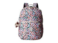 Kipling Seoul Backpack With Laptop Protection Meadow Flower Pink Backpack Bags Multi