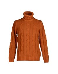Armani Collezioni Knitwear Turtlenecks Men Orange