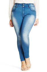 City Chic Plus Size Women's 'Harley' Stretch Skinny Jeans