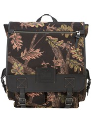 Coach Printed Scout Backpack Black