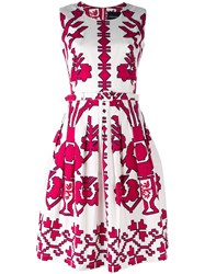 Samantha Sung Sleeveless Printed Dress White