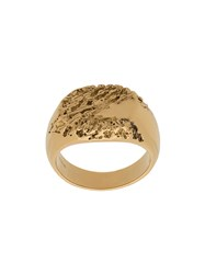 Maria Black Rock Signet Ring Gold