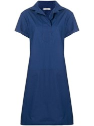 Odeeh Shortsleeved Flared Dress Blue