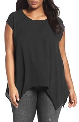 Sejour Plus Size Women's High Low Tee