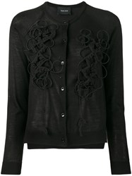 Simone Rocha Embroidered Cardigan Black