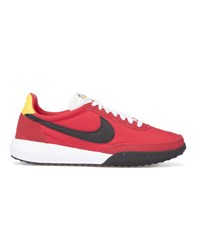 Nike Red And Black Roshe Waffle Racer Nm Sneakers White