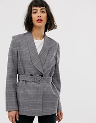 Selected Belted Blazer Grey