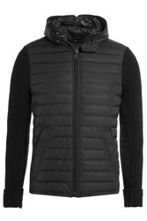 Duvetica Down Jacket With Knit Sleeves Black