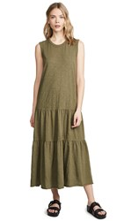 Wilt Tiered Shell Dress Olive