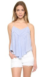 Felicite Butterfly Top Blue Stripe
