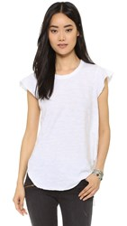 Wilt Raw Flutter Shirttail Top White
