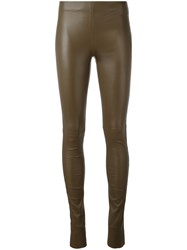 Joseph Leather Leggings Brown