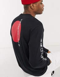 Element Takashi Long Sleeve T Shirt In Black