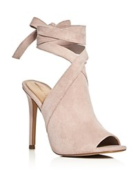Kendall And Kylie Evelyn Ankle Tie High Heel Sandals Light Pink