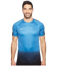 Nike Dry Cr7 Squad Soccer Top Industrial Blue Tart Metallic Silver Men's Short Sleeve Pullover