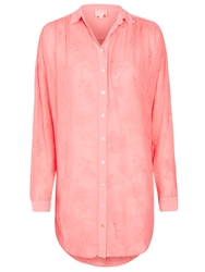 Ghost Embroidered Shirt Blush