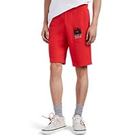 Off White C O Virgil Abloh Monalisa Cotton French Terry Shorts Red