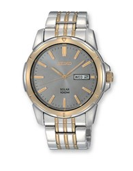 Seiko Mens Two Tone Stainless Steel Dress Watch