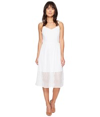 Kensie Open Mech Lace Dress Ks4k7686 White Women's Dress