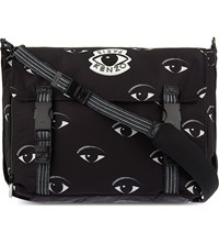 Kenzo Eyes Nylon Messenger Bag Black