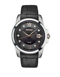 Seiko Le Grand Sport Stainless Steel Solar Strap Watch Black